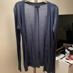 EXPRESS BLUE BUTTON CARDIGAN SIZE S